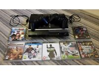 PLAYSTATION 3 CONSOLE - 2 ORIGINAL CONTROLLERS / CABLES AND 7 GAMES.