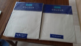 Brand New - 2 X Unopened Single Bed Fitted Sheet - Colour Ivory