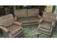 Matching Settee with 2 matching chairs