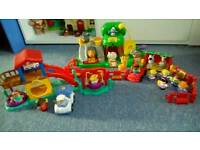 Little people zoo and swing park playsets