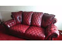 3 seater italian leather settee