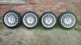 4 Genuine Ronal BMW 3 Series 17 Alloy Wheels & Tyres E90 E91 F30 F31 160 Style