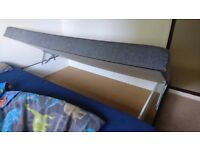 Single storage bed with built in mattress
