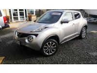 NISSAN JUKE TEKNA 1.5DCi LATE 2014 WITH ONLY 15K HEATED LEATHER,ALL ROUND CAMERA/NAV.LANE SENSORS