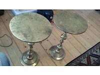 Vintage brass side tables