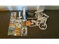 Nintendo Wii console with loads of games and accessories