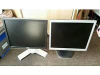 """2x 17"""" Samsung + Dell PC monitors"""