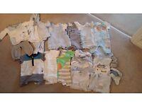 baby boys clothes bundle 0-3 month