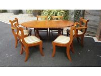 Reproduction Yew Dining Room Furniture
