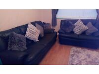 Leather 3+2 sofas