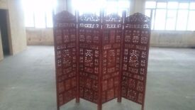 Orient Vintage Wooden Screen room divider partition double-sided
