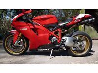 Ducati 1098s red Termignoi cans pro bolt fairing kit r&g tail tidy lots of carbon bits mot til 6/19.