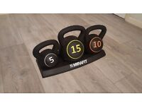 Mirafit kettle bell set 5 10 and 15kg