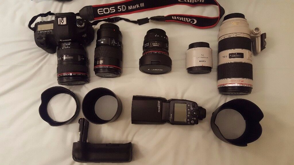 Canon EOS 5D Mark III With EF 24-105mm Lens Kit, and various lenses and accessories