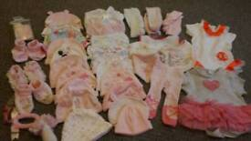 Girls clothes tiny baby to 0-3 months