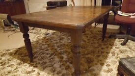 William IV table and 6 chairs