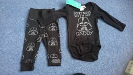 Wars outfit, baby 0-3m. New with tags