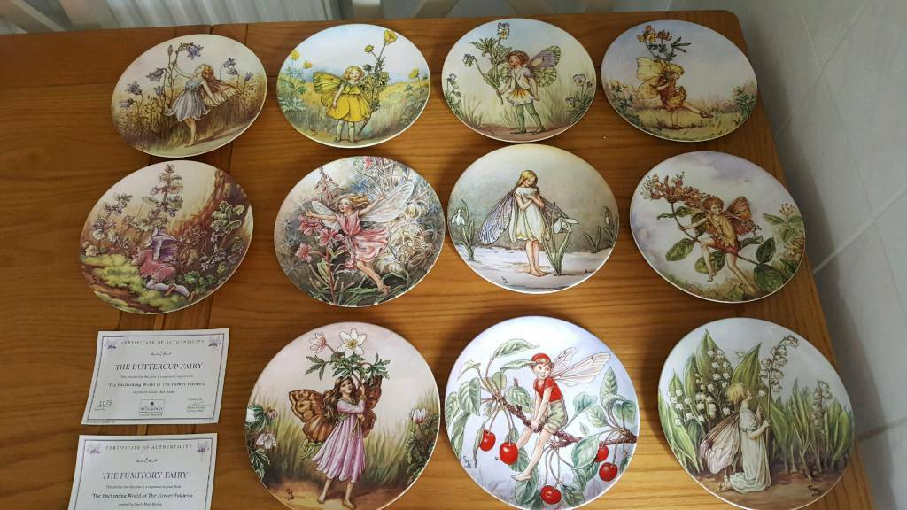 11 Wedgwood flower fairy plates