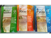 """Better than"" konnyaku /konjac flour noodles, pasta and rice low calorie/carbohydrate"