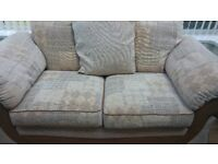 Two seater sofa and matching chair. Excellent condition.