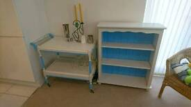 Trolley and bookcase