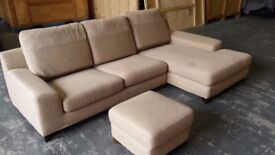 Cream L-Shaped Sofa