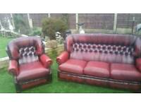 Chesterfield 3 seater and chair