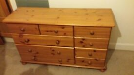 solid opine 9 draw chest of drawers