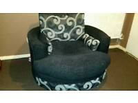 Swivel/cuddle chair £100 ono
