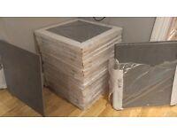 Nile Dark Grey Porcelain Floor Tiles – 18 boxes containing 4 each – 25sqm