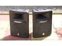 Peavey Impulse 200 Passive Speaker Pair, American Audio AMP VLP 600, QTX Stands, Speaker Leads