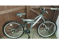 "Shockwave 800 Mountain Bike 26"" Full Suspension Gears Front Disk Break"