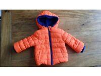 Mothercare Boy Orange Padded Coat 6- 9 months