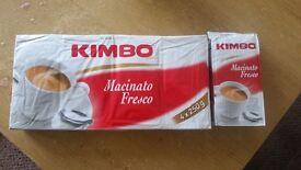 Freshly ground coffee KIMBO (5x 250gr packs)
