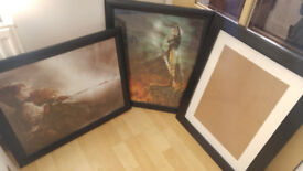 3 Large Picture Frames