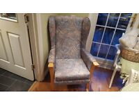 Vintage Retro Style Parker Knoll Style High Back Wingback Armchair Fireside Chair
