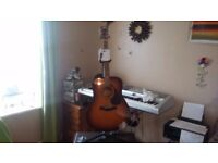 Yamaha full size acoustic nearly new with accessories