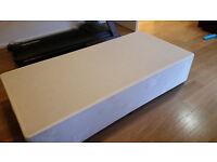 Single divan base (no mattress) exellent condition.