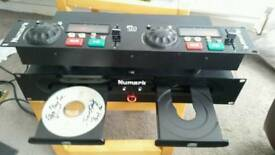Professional Twin mixing cd decks with its separate attachable controller