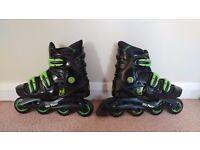 Kids Roller Skates - No Fear + Safety Pads