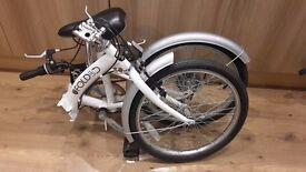 "Folding 20"" wheel quality bike cycle ideal for coming caravan/motorhome season,6 speed,2 available"