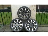 Volkswagen wheels 18 inch three of good tyres