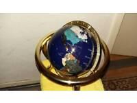 25cm by 15cm Blue Lapis ocean Table Top Gemstone World Globe