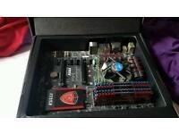 Intel 4690k msi mobo and corsair ram