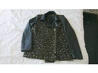 Stunning NEW ladies leather leopard jacket