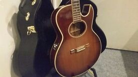 Rare 1989 Washburn Electro Acoustic & Case - Collection Only.