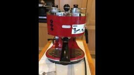 Delonghi Icona red coffee maker