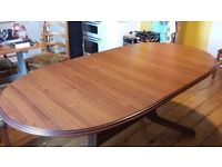 SEXY wooden dining table.... PRACTICAL too
