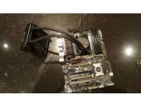 AMD FX 8350 CPU motherboard, 8 gig of vengeance ram, h20 CPU heatsink, pump and radiator.