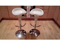 Pair of White Bar Stools